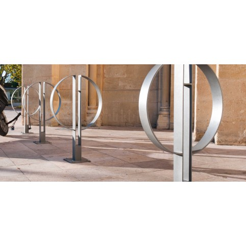 CAFè bike rack in powder coated steel