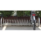 CICLOS bike rack in powder coated steel with cls supports L 2030