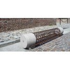 SMERALDO bike rack in reconstitued marble and powder coated steel