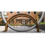 MOVE single bike rack in corten steel