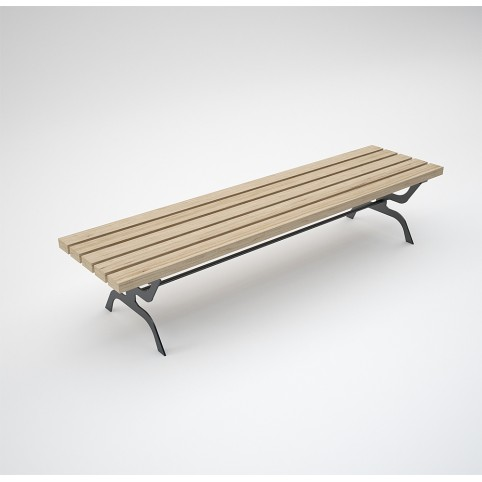 RETRO BENCH (galvanized and painted iron, wood)