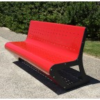 SPACE BENCH (galvanized and painted iron)