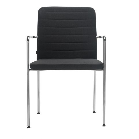 AIR 4L AIR0014BL chair white 4 legs stackable with upholstered backrest