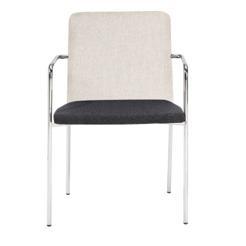 AIR 4L AIR0012BL  chair white 4 legs stackable with black mesh backrest