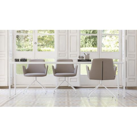 ALTEA HB armchair ALT0055BL trestle swivel base