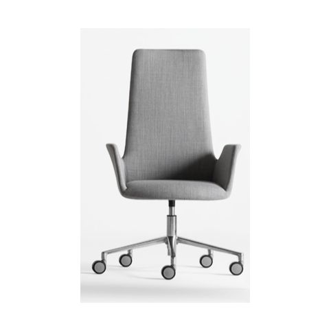 ALTEA LB armchair ALT0050BL white trestle swivel base