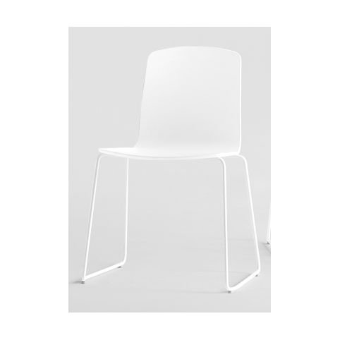 ANN ANN0020BL 4 legs chair in white with wooden shell