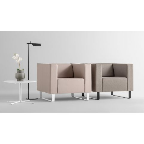AVALON 1 seater sofa in structure chrome AV0001CR
