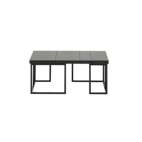ELEMENTS XS coffee tables with chrome finish in oak