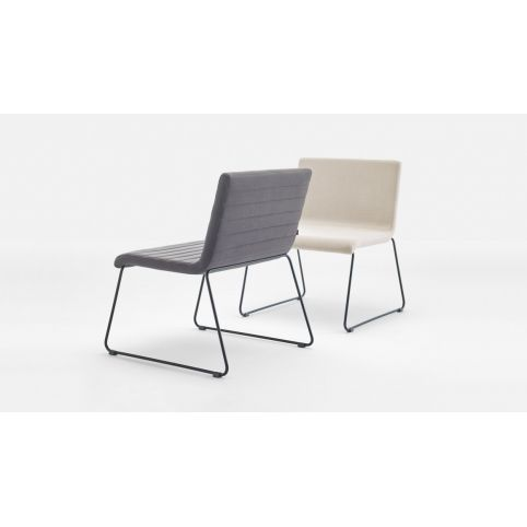 ETNIA chair with rod sled base ETN0001BL
