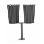 015 - POST MOUNTED DOUBLE LITTER BIN