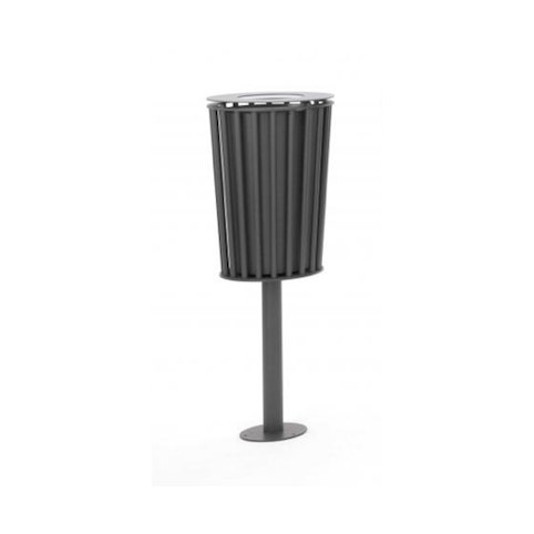 015 - POST MOUNTED SINGLE LITTER BIN
