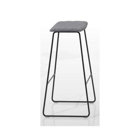 TAO medium stool with plain upholstered seat in white TAO0120BL