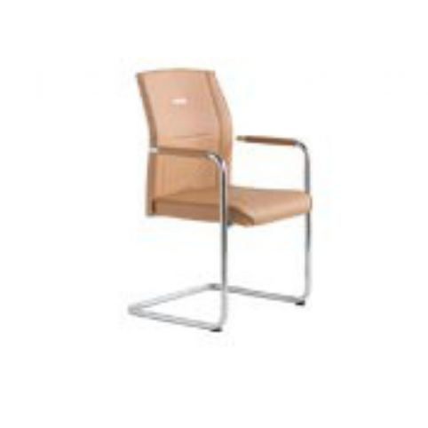 ZEN XT PLUS cantilever armchair in white ZXP0028BL