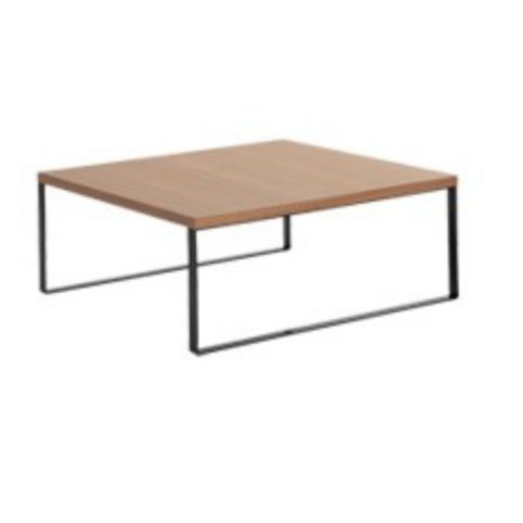 AVALON coffee white table 90x90 in beech AVL0090BL