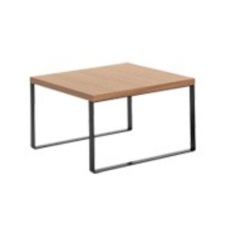 AVALON coffee white table 60x60 in beech AVL0060BL