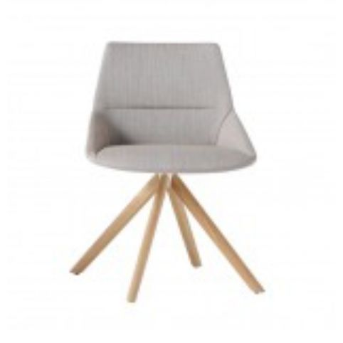 DUNAS XS chair with wooden swivel base in oak DUN0240MA