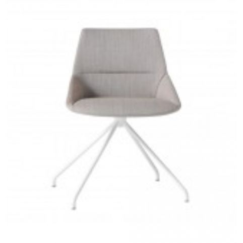 DUNAS XS chair with trestle swivel base in white  DUN0210BL