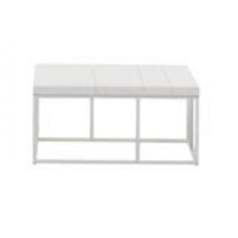 ELEMENTS coffee tables in color white 85x85cm in oak ELM0400BL