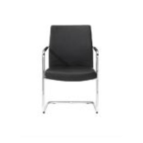 ICON cantilever armchair in white ICN0020BL