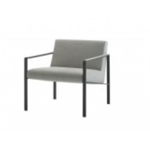 LUND upholstered 1 seater sofa in black LUN0010NG