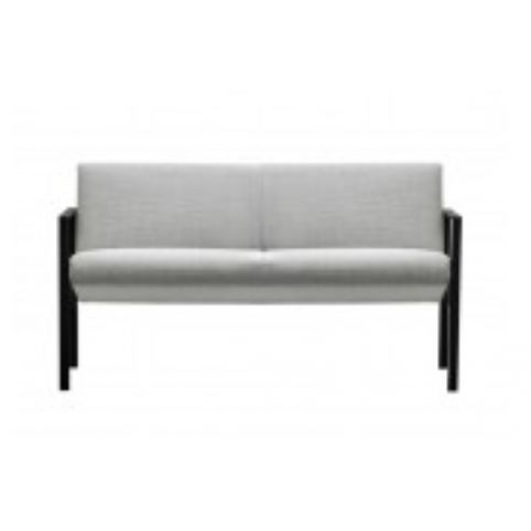 LUND upholstered 2 seater sofa in black LUN0020NG
