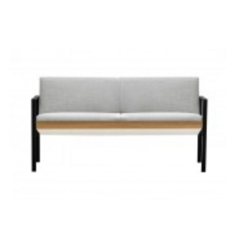 LUND wooden 2 seater sofa in white LUN0120BL