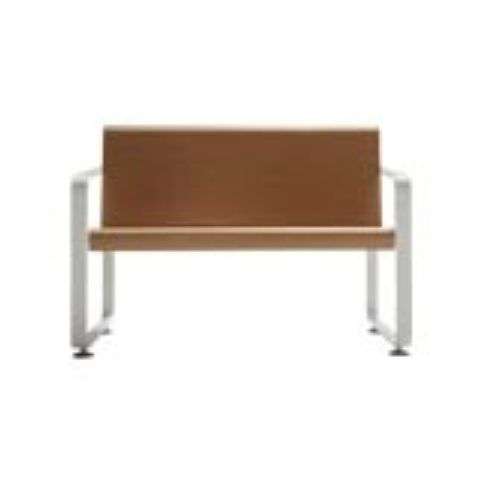 NEO 2 seater white beech bench NEO0020BL