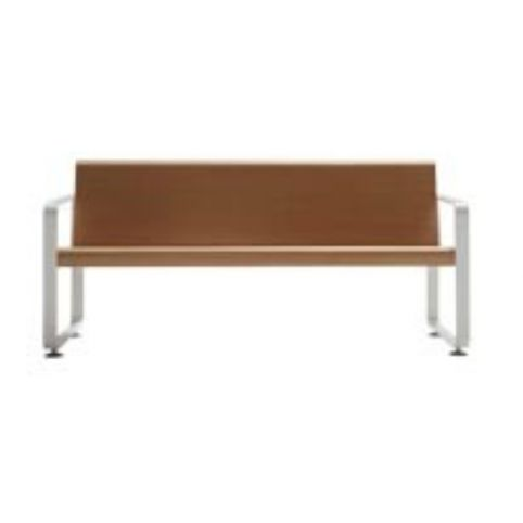 NEO 3 seater white beech bench NEO0030BL