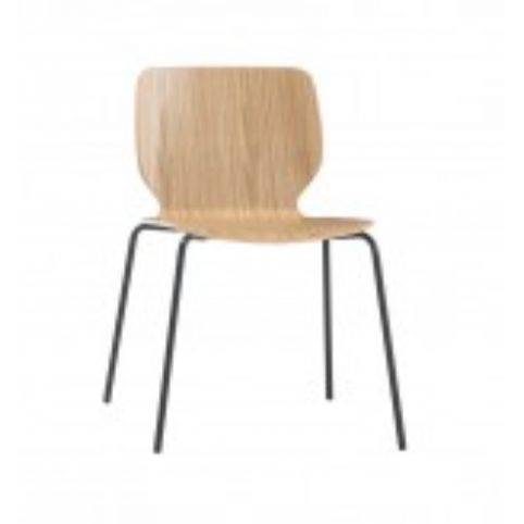 NIM 4 legs chair with beech shell NIM0020BL