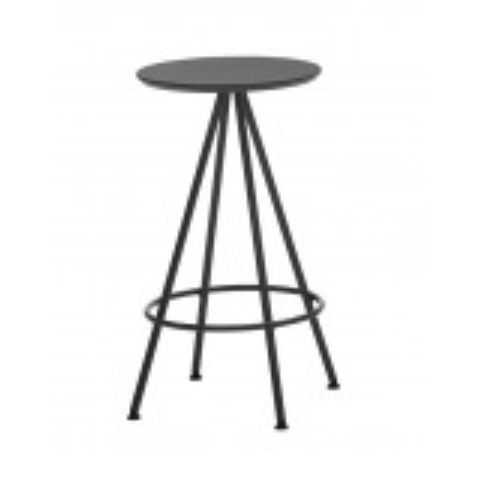 SUN medium stool with wooden seat in white SUN0110BL
