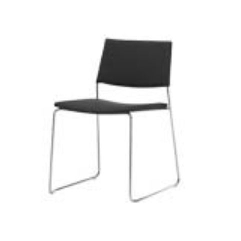 TEN chair with rod sled base in white TEN0010BL