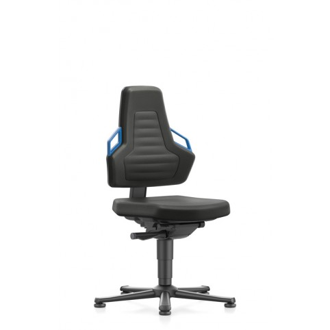 Nexxit on glides, seat height handles 450-600 mm, Upholsterys black fabric, Ref: 9030-6801
