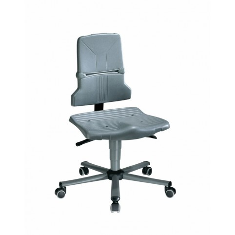 Sintec on castors, seat height of 430-580 mm, the seat and backrest in standard polypropylene, Ref: 98-1000