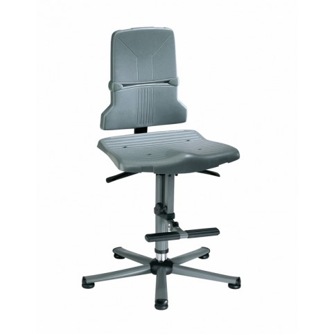 Sintec glides with steps, seat height of 580-850 mm, the seat and backrest in standard polypropylene, Ref: 98-1000