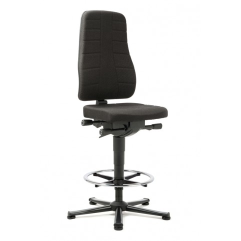 All-In-One Highline on glides with footrest, seat height of 570-830 mm, upholstery fabric, Ref: 9641