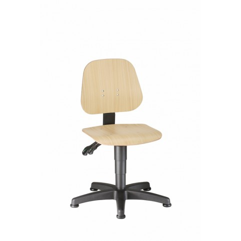 Unitec on glides, seat height of 440-620 mm, beech plywood, Ref: 9650