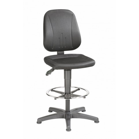 Unitec on glides with footrest, seat height of 580-850 mm, upholstery fabric, Ref: 9651