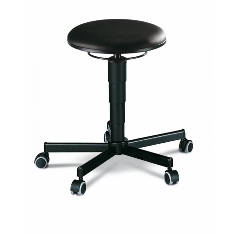 Stool with castors, seat height of 460-630 mm, upholstery Artificial leather, Ref: 9468