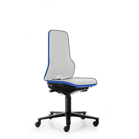 ESD Neon on castors with synchrome mechanical, seat height of 450-620 mm, without Upholstery, Ref: 9573E