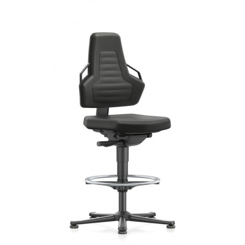 ESD Nexxit on glides with footrest, seat height of 570-820 mm, upholstery fabric, Ref: 9031E-9801