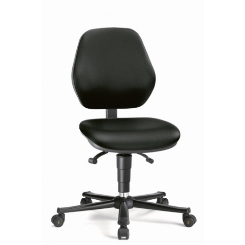 Basic ESD on castors, seat height of 470-610 mm, upholstery Artificial leather, Ref: 9151E