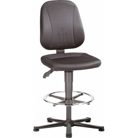 ESD Unitec on glides with footrest, seat height of 580-850 mm, upholstery fabric, Ref: 9651E