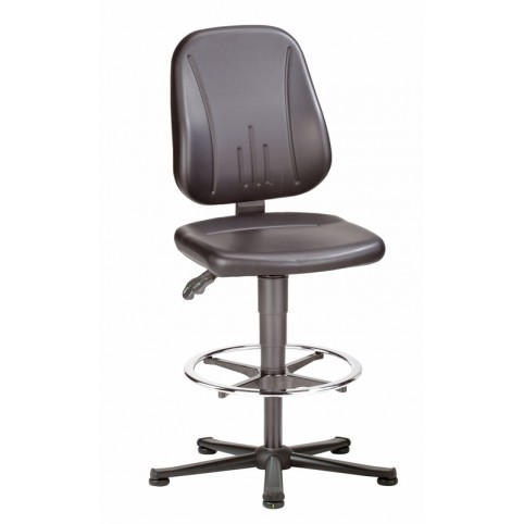 ESD Unitec on glides with footrest, seat height of 580-850 mm, upholstery Artificial leather, Ref: 9651E