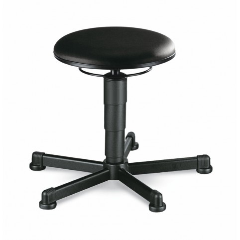 ESD stool on glides, seat height of 460-630 mm, upholstery Artificial leather, Ref: 9467E