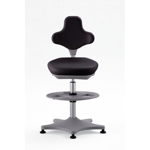 Labster on glides with footrest, seat height of 550-800 mm, upholstery of integral foam, Ref: 9101