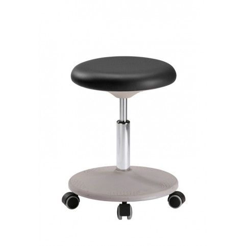 Labster stool on castors, seat height of 450-650 mm, upholstery Artificial leather, Ref: 9107