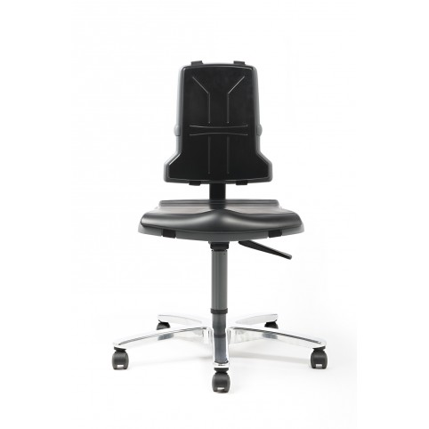 Sintec 160 for body weight up to 160 kg seat height of 490-600 mm, upholstery of integral foam, glides and rollers included, Ref