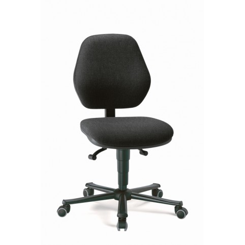 Basic laboratory on castors, seat height of 470-610 mm, upholstery fabric, Ref: 9133