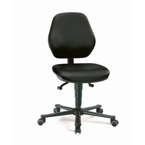 Basic laboratory on castors, seat height of 470-610 mm, upholstery Artificial leather, Ref: 9133